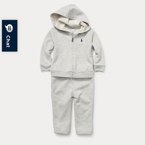 NWT Ralph Lauren French Terry Hoodie 2 piece Set